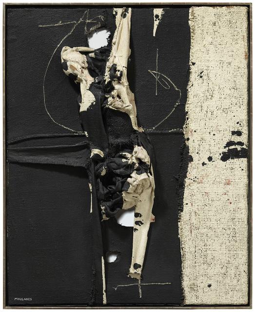 Manolo Millares, 'Cuadro (4)', 1963, Other, Mixed media on burlap, Galeria Mayoral