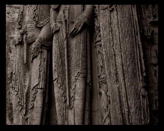 , 'Portal Figures, Chartres Cathedral, France, 1989,' Printed 2017, Haines Gallery