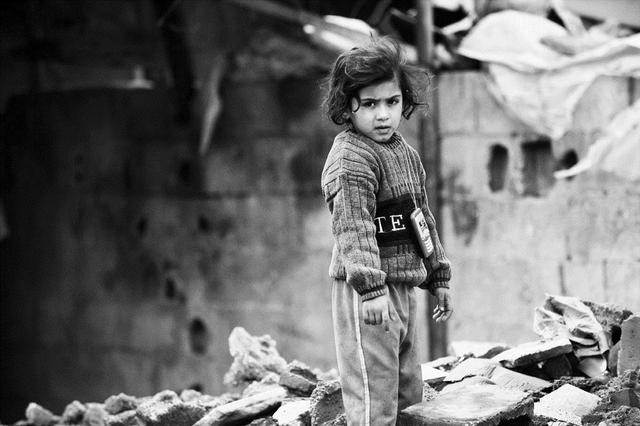 , 'Girl in the Middle of her House, Gaza City,' 2011, Q0DE