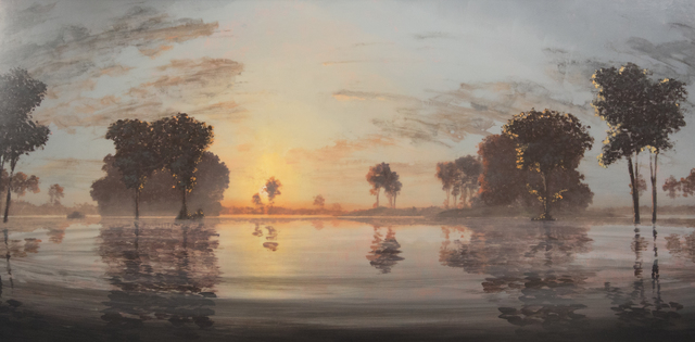 Stephen Hannock, 'Flooded River: North of the Oxbow', 2001, Painting, Polished oil on canvas stretched over panel, Taylor   Graham
