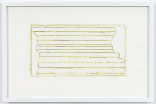 , 'Trace 1: after Threshold SouthEast [Spectrum: Yellow],' 2010, David Nolan Gallery