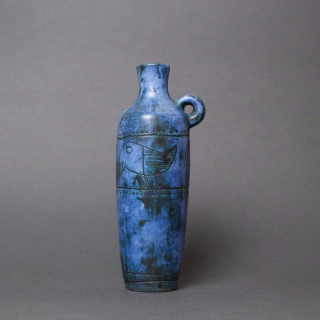 , 'Blue Ceramic Vase,' 1950-1959, Bureau of Interior Affairs