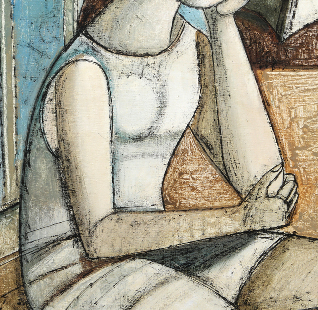 Lucio Ranucci, 'Woman with Boats', 1973, Painting, Oil on canvas, RoGallery