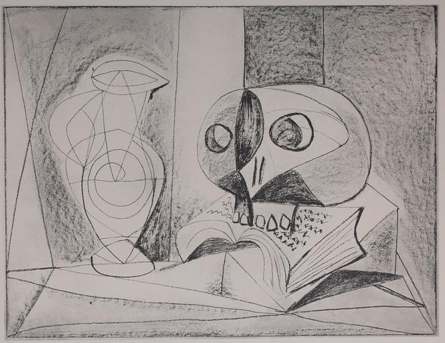 Pablo Picasso, 'Composition Au Crane (Skull Composition), 1949 Limited edition Lithogrph by Pablo Picasso', 1949, Print, Lithograph, White Cross