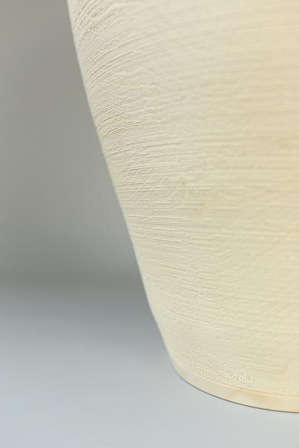 Ernst Gamperl, '9/2020//170', 2020, Sculpture, Turned maple wood sculpture, bleached, limed, Spazio Nobile