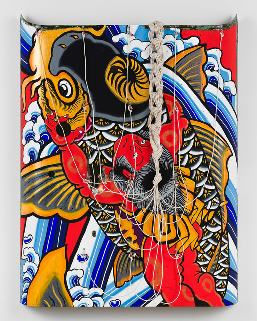 Sean Cordeiro & Claire Healy, 'Kintaro', 2020, Sculpture, Kiowa FWD helicopter shell assembly, acrylic gouache, cotton sash cord, tape, Roslyn Oxley9 Gallery