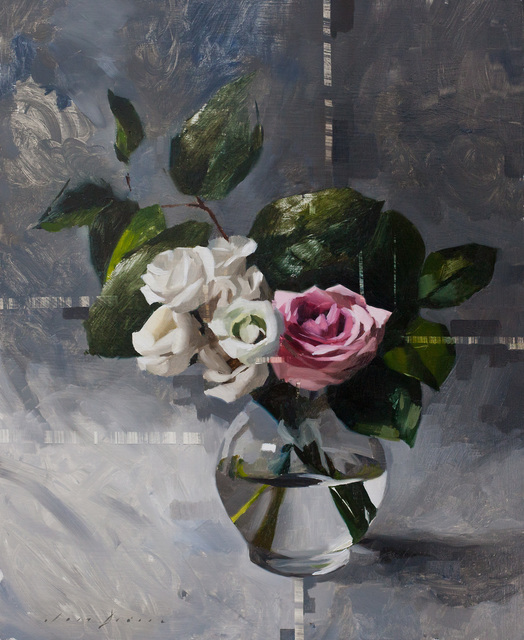 , 'Lisianth, Rose and Grey,' 2018, Abend Gallery