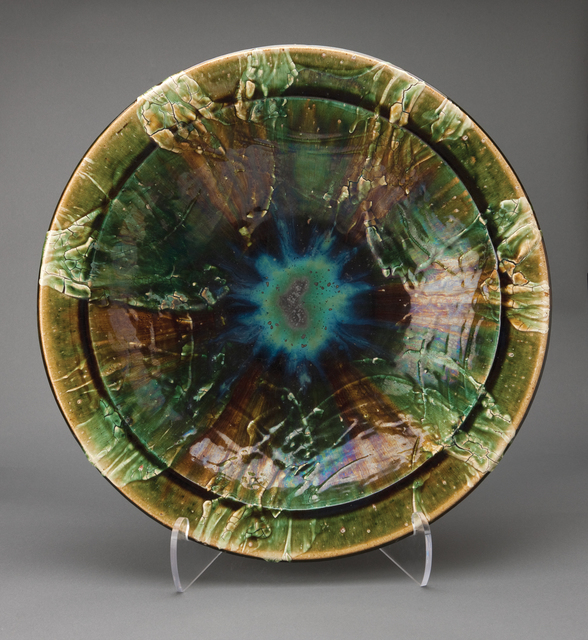 , 'Large plate, oribe glaze,' , Pucker Gallery