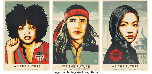Shepard Fairey, 'Power to the Polls, set of three', 2018, Heritage Auctions