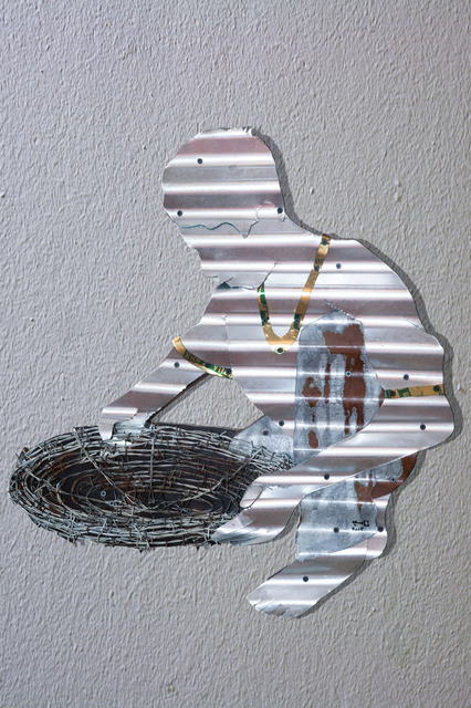 , 'Boy with a sieve,' 2015, al markhiya gallery