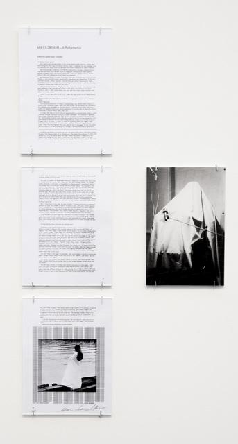 , 'Mikva Dreams – A Performance,' 1978, Rojas + Rubensteen Projects