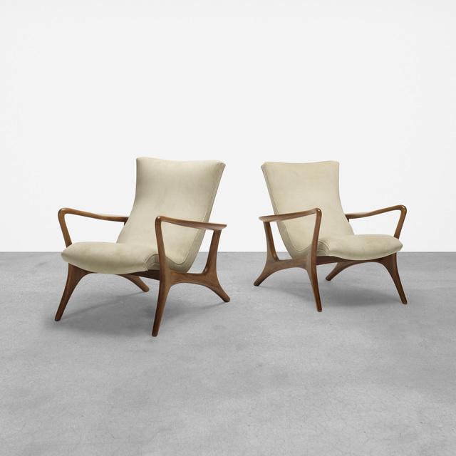 Vladimir Kagan, 'Contour Lounge Chairs, Pair', 1954, Wright