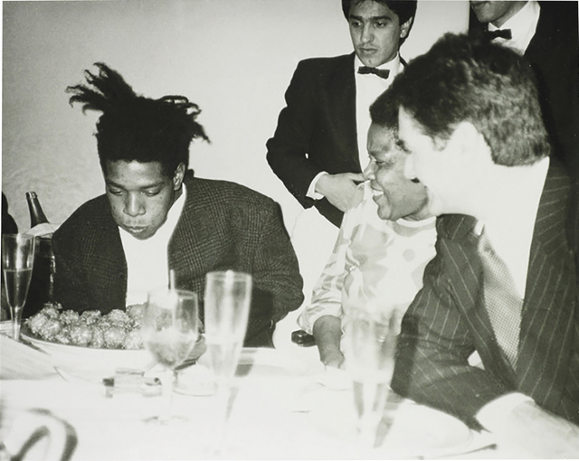 Andy Warhol, 'Jean-Michel Basquiat, Basquiat's Mother and friends', ca. 1984, Photography, Silver gelatin print, Phillips