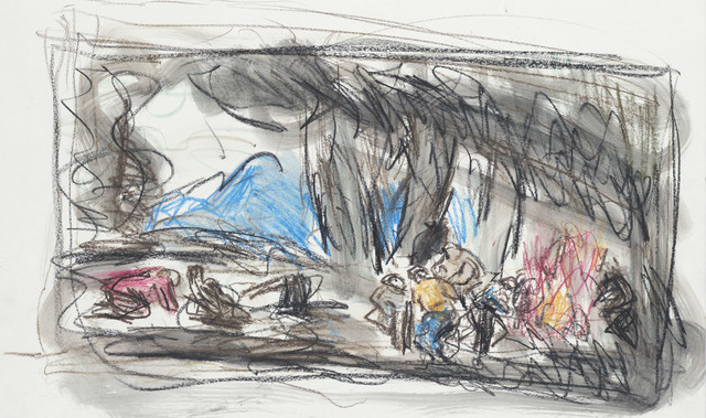 Leon Kossoff, 'From Goya 'Making Shot in the Sierra de Tardienta'', 1994, Annely Juda Fine Art