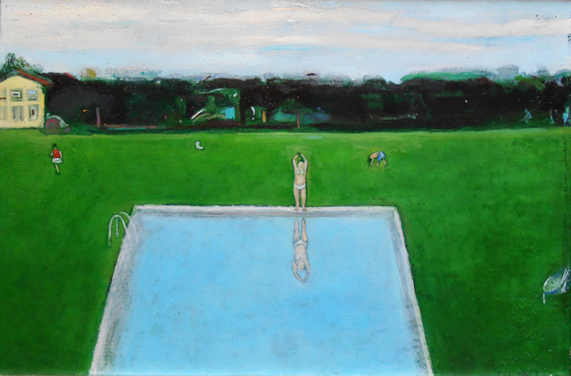, 'Green Swimming Pool,' 2017, Cyril Gerber Fine Art/ Compass Gallery
