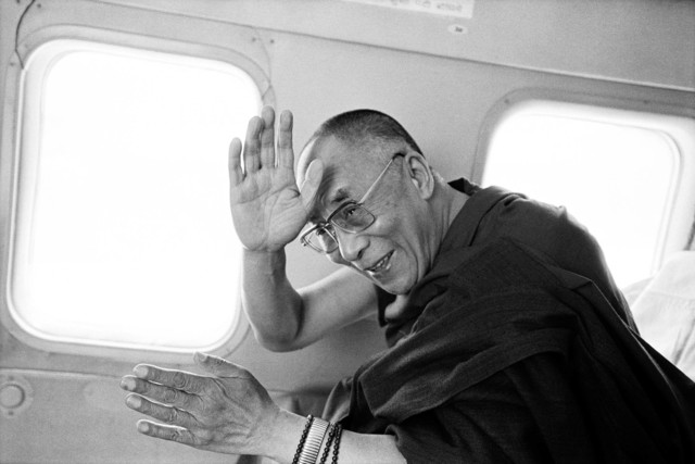 , 'Dalai Lama, flight to Tawang,' 2003, Galerie Wenger