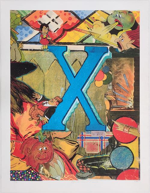 Bruce Helander, 'LOVE LETTERS: LETTER X', 1998, Print, EMBELLISHED LITHOGRAPH, Gallery Art