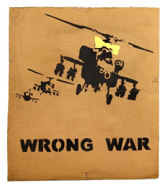 Banksy, ''Wrong War (Yellow Chopper)'', 2003, Chiswick Auctions