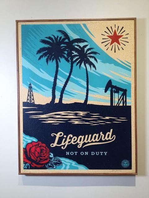 Shepard Fairey (OBEY), 'Lifeguard Not On Duty', 2014, Vertu Fine Art