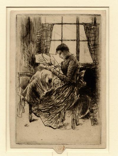 Norbert Goeneutte, 'Jeune fille cousant', 1877, Sylvan Cole Gallery