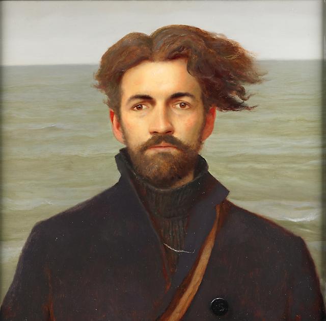 Bo Bartlett, 'Self Portrait as Ishmael', 2000, Painting, Oil on panel, Rago/Wright