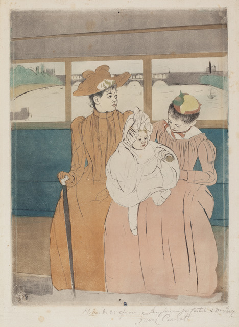 Mary Cassatt, 'In the Omnibus', 1890-1891, National Gallery of Art, Washington, D.C.