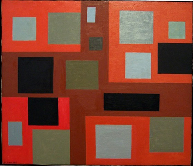 Alice Trumbull Mason, '#1 Towards a Paradox', 1969, Painting, Oil on canvas, Washburn Gallery