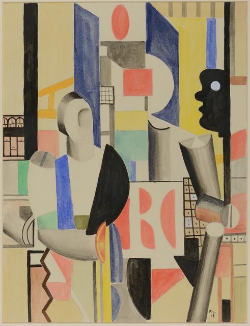, 'Les hommes dans la ville,' 1919, Chowaiki & Co.