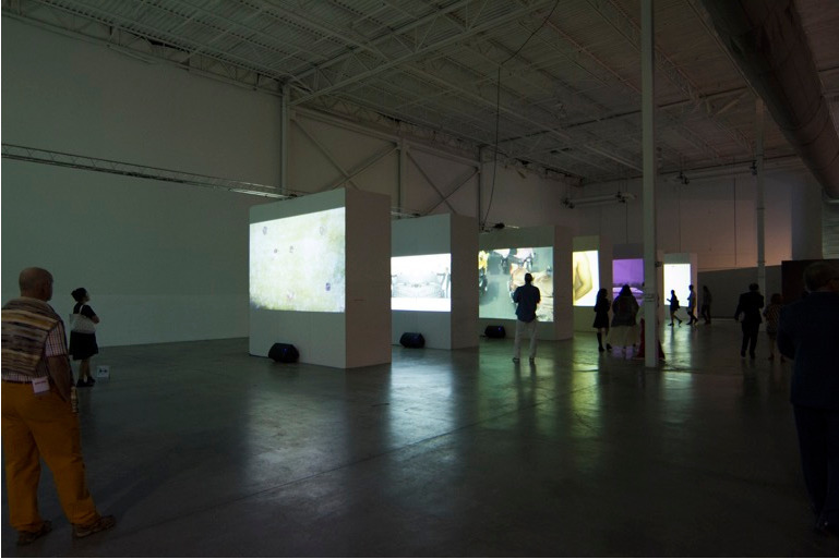 Exquisite Corpse: Moving Image in Latin American and Asian Art, 2017, Installation View, Mana Winwood.  Photo: On The Real Film (@ontherealfilm).