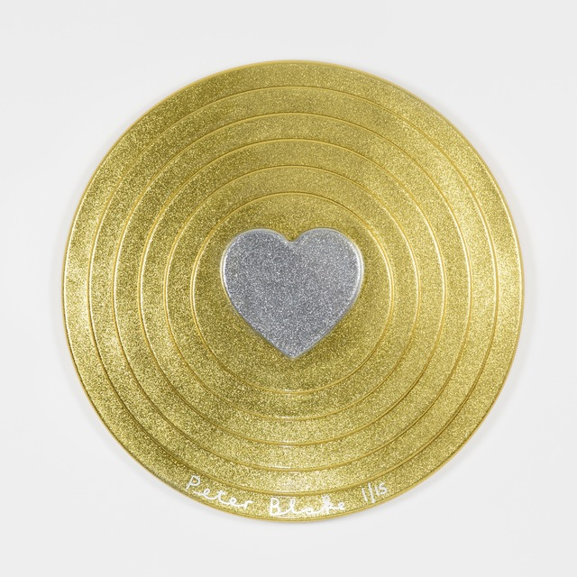 , 'Silver heart on gold (metal flake),' 2017, Paul Stolper Gallery