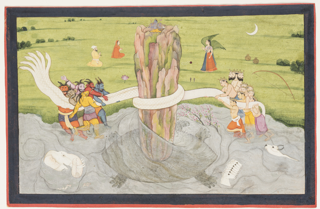 , 'The churning of the Ocean of Milk. Folio from a Gita Govinda (The Song of the Herdsman),' ca. 1785, Princeton University Art Museum