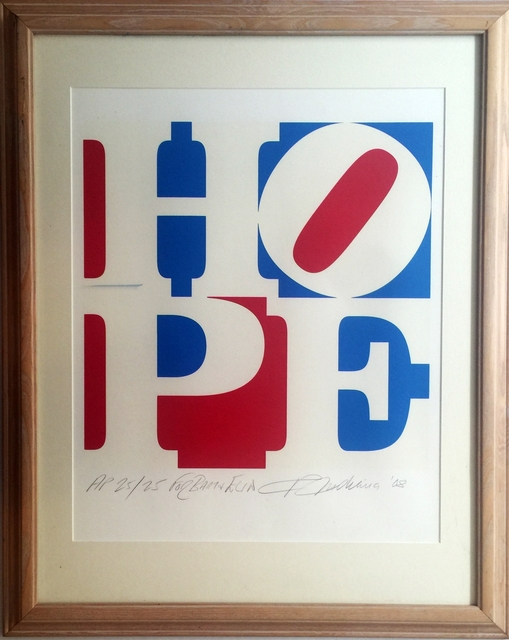 , 'HOPE - from Artist for Obama Portfolio, Inscribed Dedicated to Bart & Elin ,' 2008, Alpha 137 Gallery