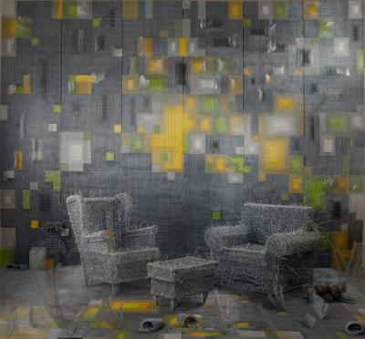Zhou Jie 周洁, 'Wonderful Plan ', 2015, Installation, Steel Wire, Beijing Art Now Gallery