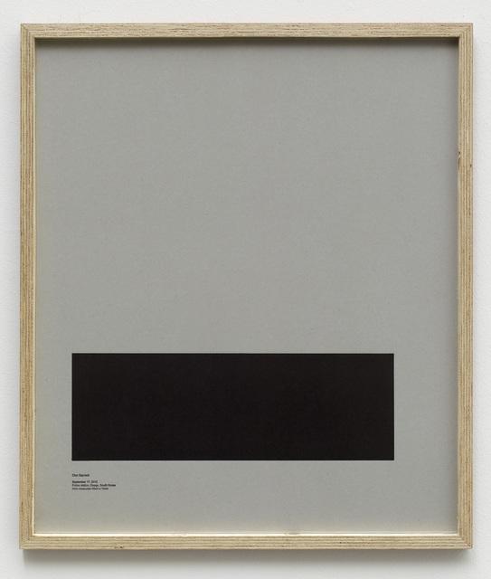 , 'Loop Holes (Choi Gap-bok, September 17. 2012, Police jail in the city, hole measures 45 x 15 cm),' 2014, Galleri Nicolai Wallner