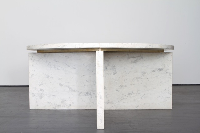 , 'Table with white marble and brass,' ca. 1970, Magen H Gallery