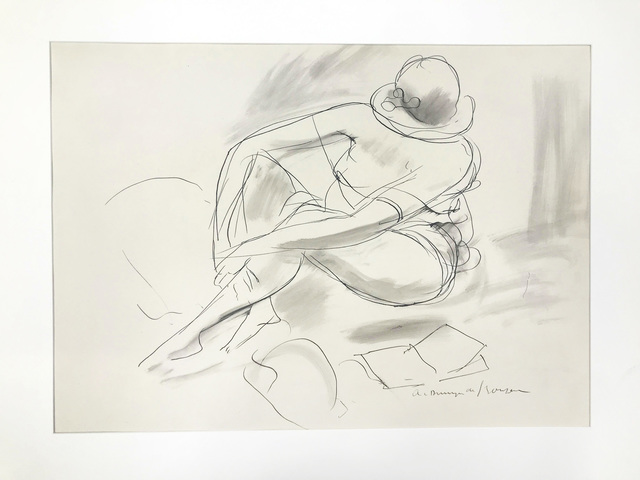 André Dunoyer de Segonzac, 'Seated Woman with Hat', circa 1925, Doyle