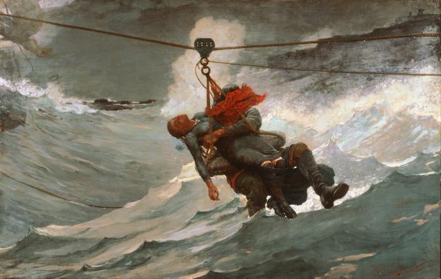 Winslow Homer, 'The Life Line', 1884, Art History 101