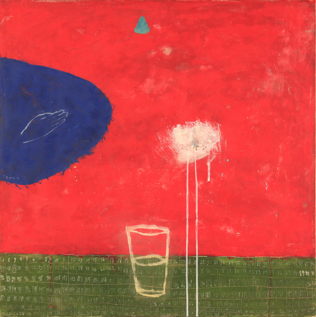 Squeak Carnwath, 'Blue Touch', 1996, Palm Springs Art Museum Benefit Auction