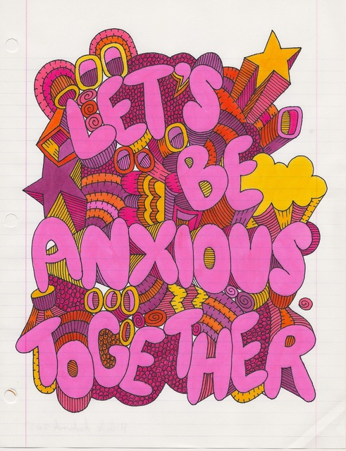 , 'Let's Be Anxious Together,' 2015, Charlie James Gallery