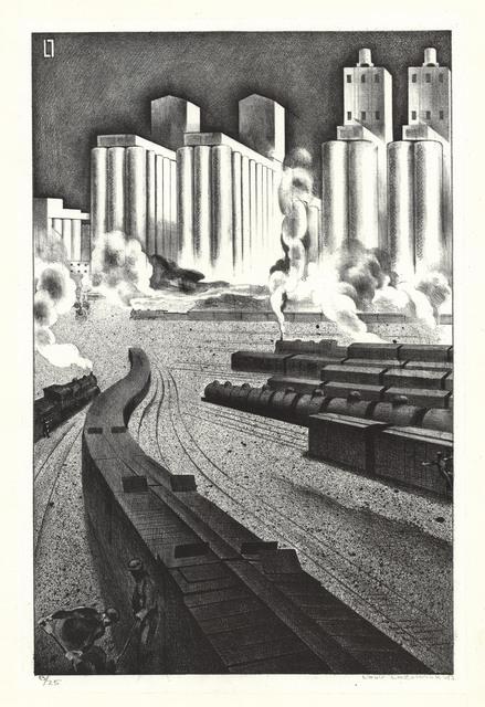 Louis Lozowick, 'Granaries of Democracy.', 1943, The Old Print Shop, Inc.