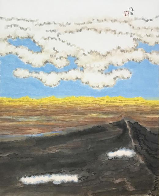 Liu Mu, 'The Gloden Auspicious Mountains', 2011, Painting, Ink and Color on Paper, Illuminati Fine Art