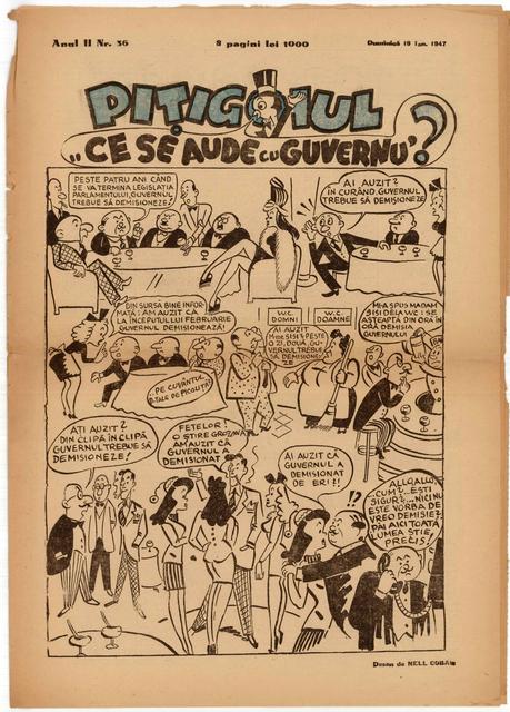 , 'Ce se aude cu guvernul?,' 1947, Nasui Collection & Gallery