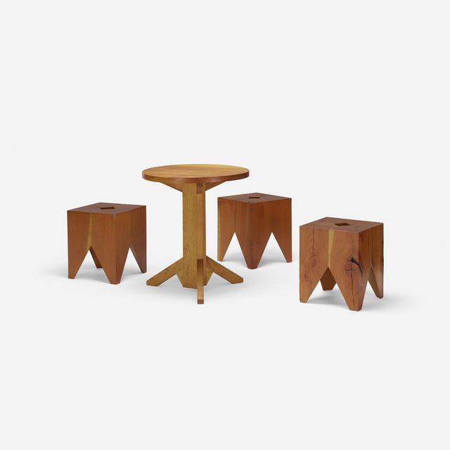 Paul Discoe, 'Set of three Cube chairs with table', c. 2010, Wright