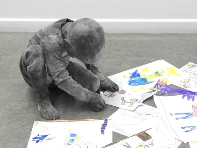 , 'Sitting Child Drawing,' 2018, Galerie von Braunbehrens