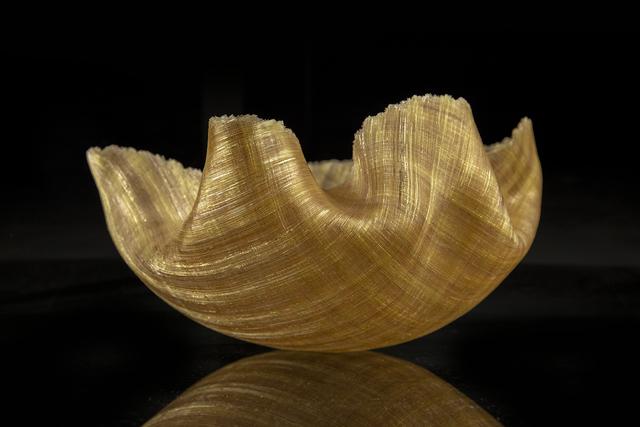 Toots Zynsky, 'Mary Ann ''Toots'' Zynsky Gold Textured Spun Glass Bowl Contemporary Art', 1988, Modern Artifact