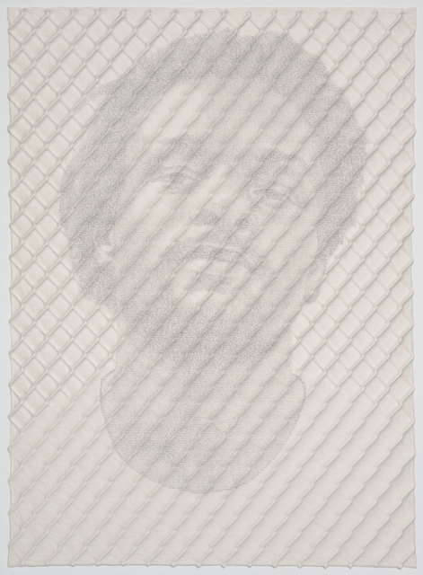 , 'Chain-link Fence Portrait (John),' 2017, Lisa Sette Gallery