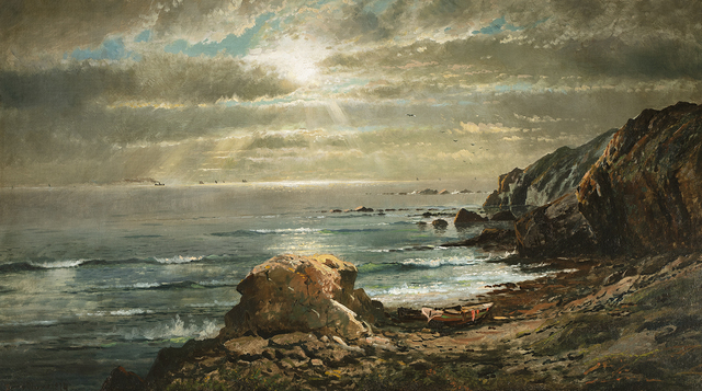 Edmund Darch Lewis, 'Sunlight Through the Clouds Over a Rocky Coast', 1874, Questroyal Fine Art