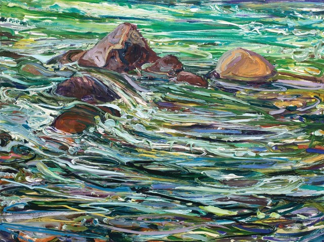 Lilian Garcia-Roig, 'Cumulative Nature: Rocks and Rapids', 2019, Painting, Oil on canvas, Valley House Gallery & Sculpture Garden
