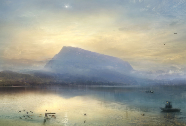 , 'The Blue Rigi, Sunrise (after JMW Turner, 1842)  ,' 2008, GBS Fine Art