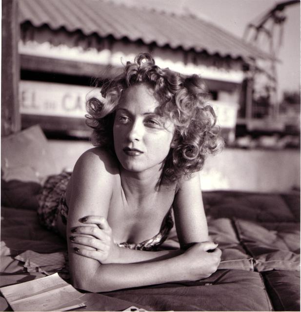 , 'Danielle Darrieux, Eden Roc, Cap d'Antibes, August,' 1941, ElliottHalls